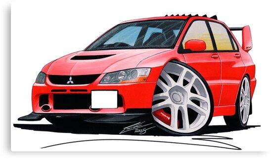Mitsubishi Evo IX Red by yeomanscarart