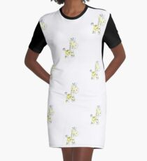 colorful sketch of giraffe on white background Graphic T-Shirt Dress