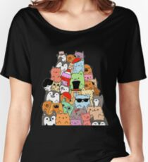Cute Cats and Dogs Doodle Women's Relaxed Fit T-Shirt