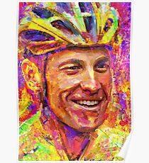 Portrait Lance Armstrong dream Poster