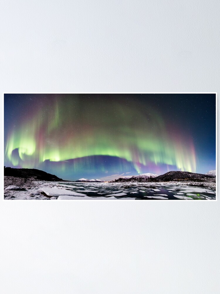 Alternate view of Panorama of the Northern Lights Poster