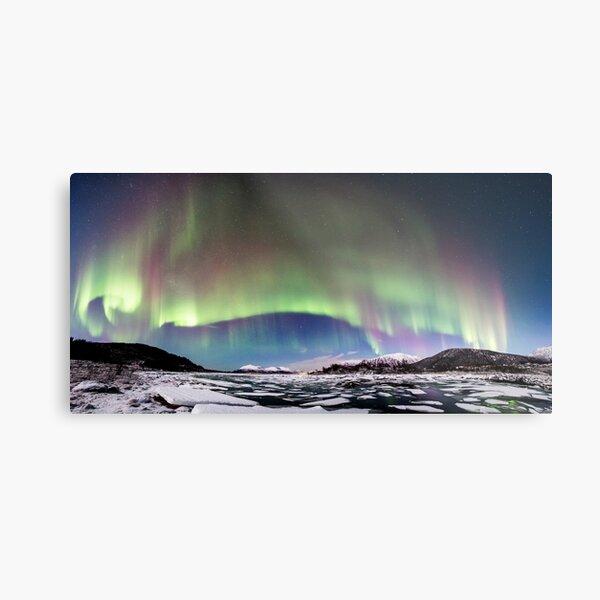 Panorama of the Northern Lights Metal Print