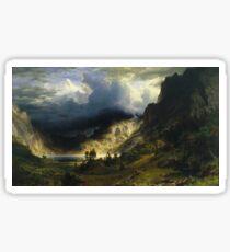 Albert Bierstadt - A Storm In The Rocky Mountains Mt Rosalie Sticker