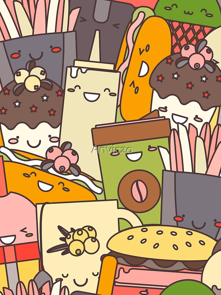 Fast  Food illustration by Anviczo