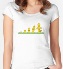 Lego Man Evolution Women's Fitted Scoop T-Shirt
