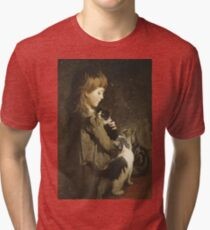 Abbott Handerson Thayer - The Favorite Kitten Tri-blend T-Shirt