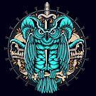 Forest Owl Skull by robinclarijs