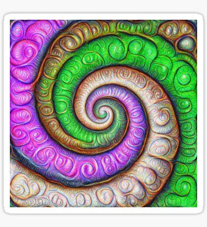 Fibonacci spiral #DeepDream #Art Glossy Sticker
