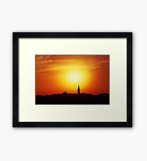 Skyline of a town of Akko, Israel  Framed Print