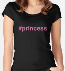 Princess Pink Glitter Women's Fitted Scoop T-Shirt