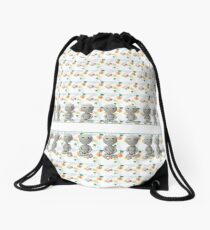 Muster Yoga - patter yoga Drawstring Bag