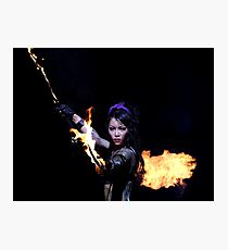 Woman on fire  Photographic Print