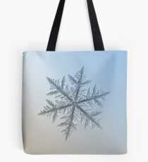 Silverware, snowflake macro photo Tote Bag