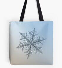 Silverware, snowflake macro photo Tote Bag