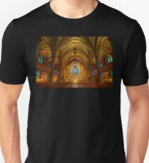USA. Connecticut. New Haven. Trinity Church on the Green. Interior. Unisex T-Shirt
