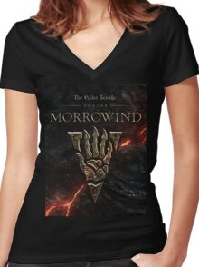 Morrowind Women's Fitted V-Neck T-Shirt