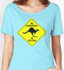 NO KANGAROOS IN AUSTRIA Women's Relaxed Fit T-Shirt