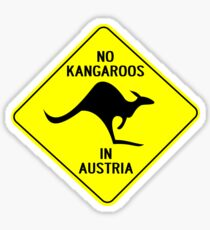 NO KANGAROOS IN AUSTRIA Sticker