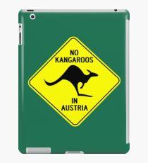 NO KANGAROOS IN AUSTRIA iPad Case/Skin