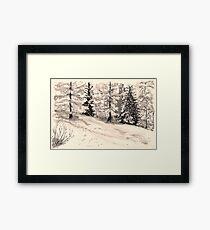les arcs 1800 snow scene Framed Print