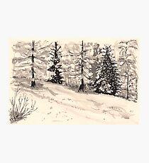les arcs 1800 snow scene Photographic Print