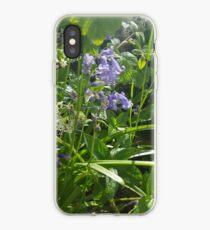 Bluebells and wild garlic iPhone Case