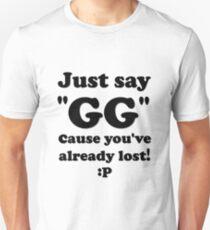 Just Say GG Steam Pc Gamer Master Race Unisex T-Shirt