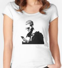Bill Kaulitz  Women's Fitted Scoop T-Shirt