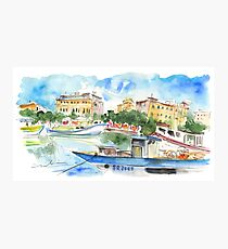 Boats In Siracusa 01 Photographic Print