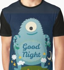 Good Night cartoon monster. Graphic T-Shirt