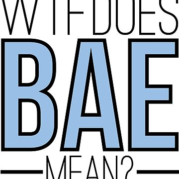 WTF does BAE mean? by freshcoffee