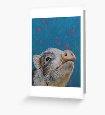Baby Pig Greeting Card