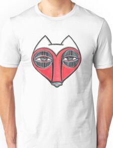 fox face heart Unisex T-Shirt