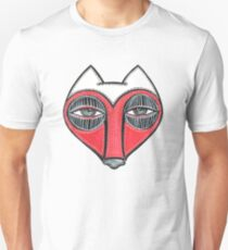 fox face heart T-Shirt