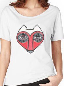 fox face heart Women's Relaxed Fit T-Shirt