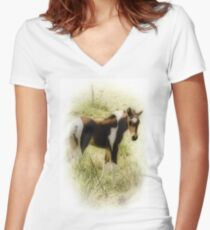 Pretty colt Women's Fitted V-Neck T-Shirt