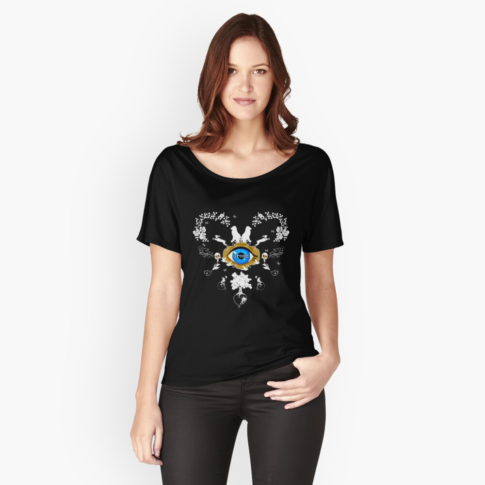 I Dream In Color - White Silhouettes on Black Relaxed Fit T-Shirt