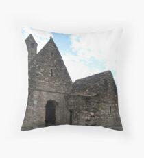 St. Kevin's Church, Glendalough Throw Pillow