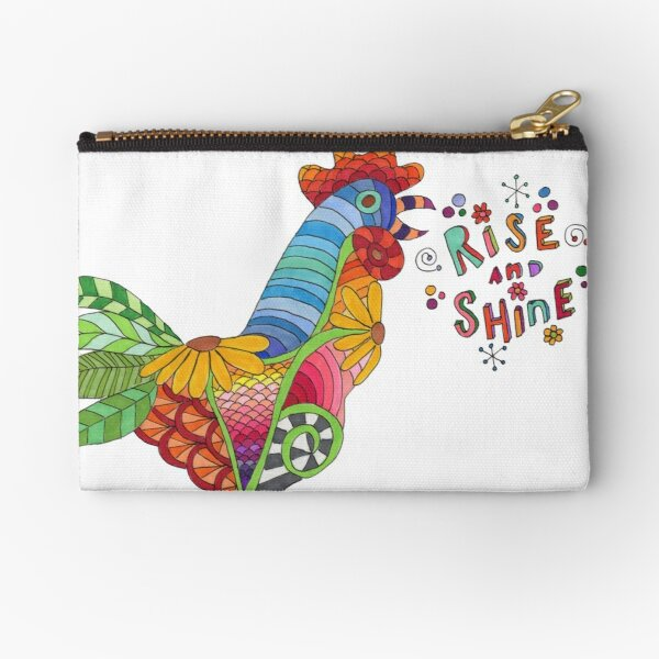Shay's Rise and Shine Rooster Zipper Pouch