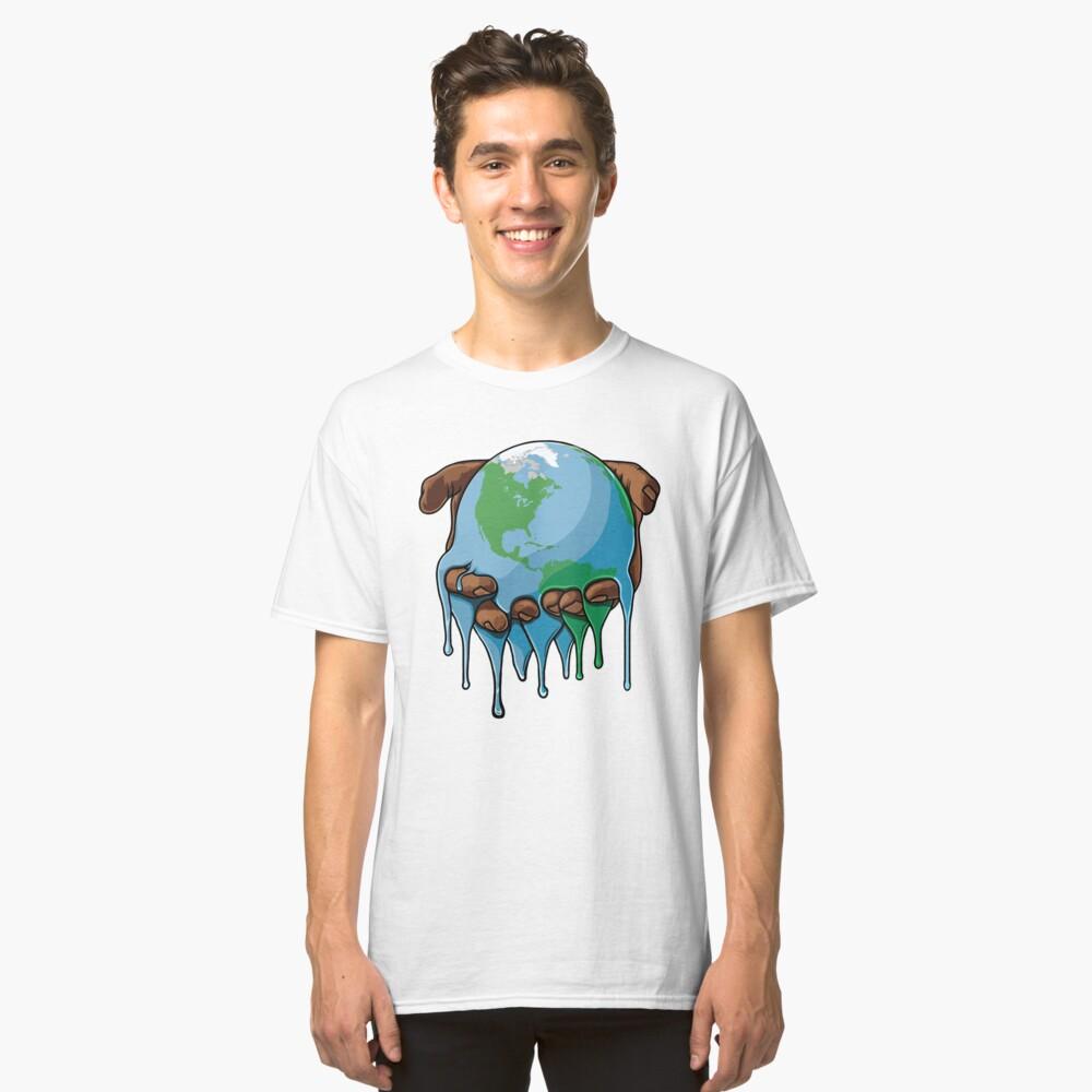 Estoy arriba de la tierra Camiseta clásica