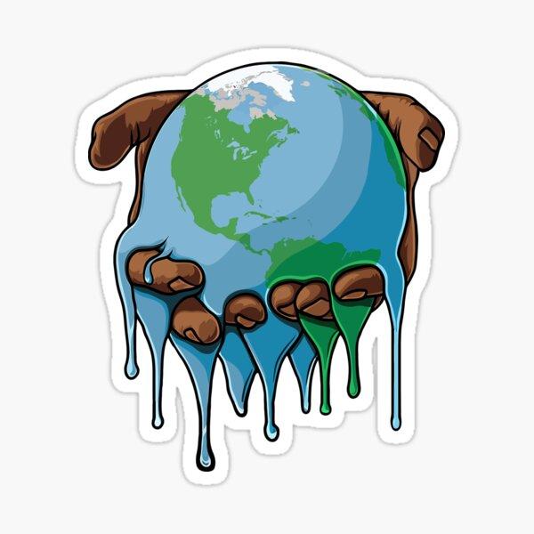 I'm Up Earth Sticker