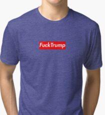 Fuck Trump supreme box logo Tri-blend T-Shirt