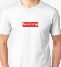 Fuck Trump oberste Box Logo Slim Fit T-Shirt