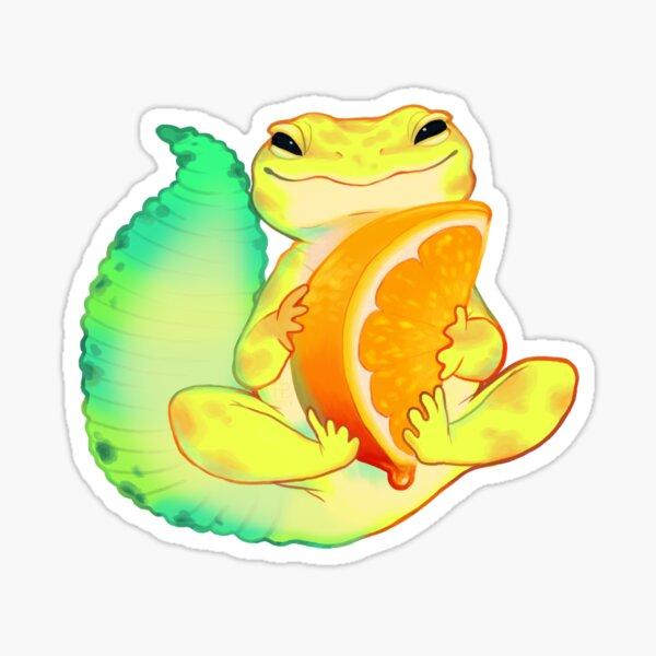 Orange Sorbet Gecko Sticker