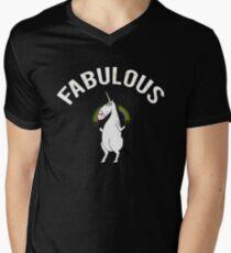 "Lustiges Einhorn ""fabelhaftes"" T-Shirt T-Shirt mit V-Ausschnitt für Männer"