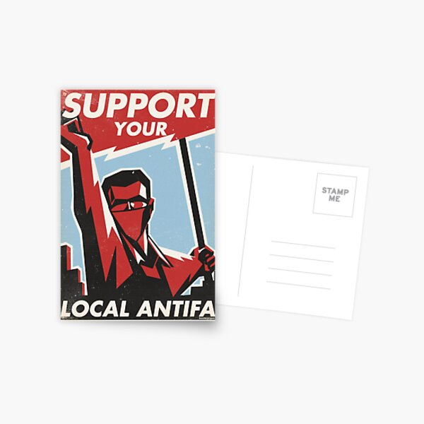 Support Your Local Antifa Postcard