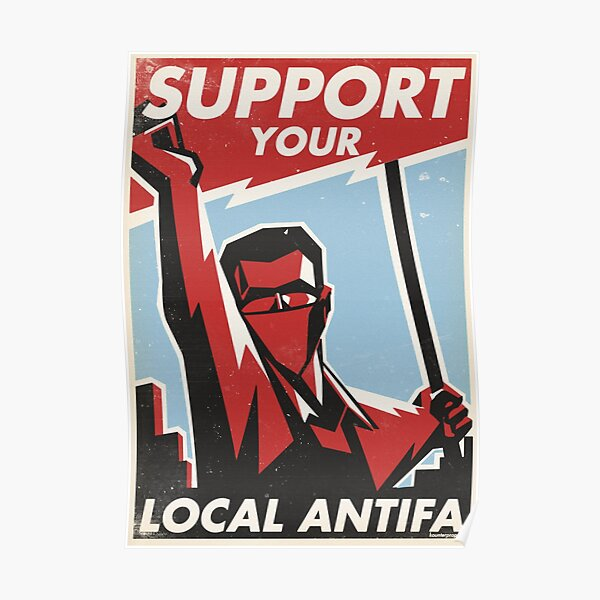Support Your Local Antifa Poster