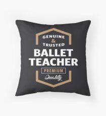 Ballet Teacher Logo Gift Ideas Throw Pillow
