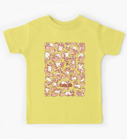 Red Panda all over pattern spread Kids Clothes