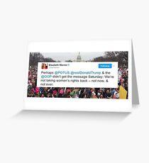 Elizabeth Warren Women's March Tweet Greeting Card